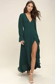 rochii de club bubbly forest green backless maxi dress