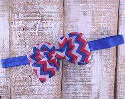 white and blue headband patriotic headband etsy
