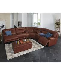 Martino Leather Sectional Sofa Ricardo Leather Sectional Living Room Furniture Collection Power