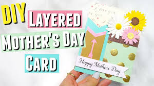 mother s day card designs diy mother u0027s day card a diy layered mother u0027s day card diy