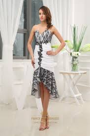 black and white high low dresses white cocktail dress with black