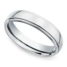 beveled engagement ring beveled men s wedding ring in white gold 7mm