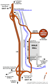 map of oregon house road map the oregon vortex and location of the house of mystery