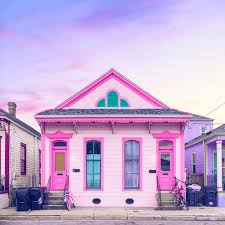 house tour a pink bywater shotgun home in new orleans