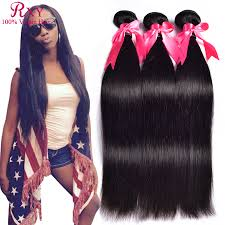 8 Inch Human Hair Extensions by Rxy Hair Products 100 Human Hair Weave 3pcs Straight Pruvian Hair
