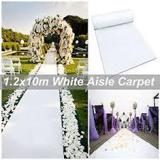 white aisle runner 1 2m x 10m white carpet aisle runner wedding party event