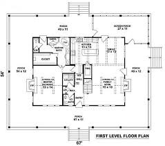 Square House Plans With Wrap Around Porch Simple Box Shape With Open Floor Plan And A Lot Of Porch House