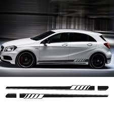 mercedes decal aliexpress com buy 2017 edition 1 style side skirt racing