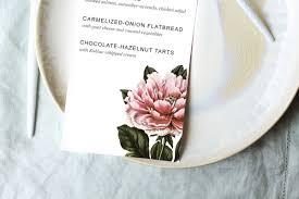 printable dinner party menu template design create cultivate