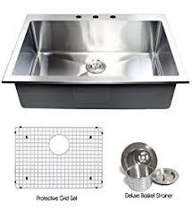 Inch Topmount  Drop In Stainless Steel Single Bowl Kitchen - Stainless steel single bowl kitchen sink