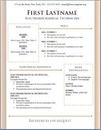 curriculum vitae format download format