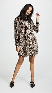 print dress ganni leopard print dress shopbop