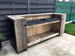 pallet outdoor kitchen bar pallets met and bar