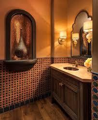 Casbah Mediterranean Kitchen Cheerful Spunk Enliven Your Powder Room With A Splash Of Orange