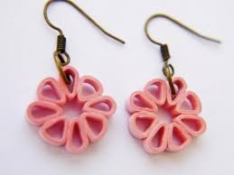 earrings paper pink square flower paper quilled earrings meylah