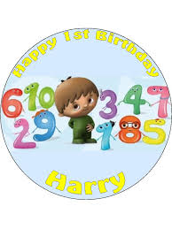 edible numbers 7 5 and the numbers for boy personalised edible icing or