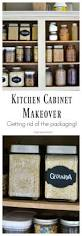 Organizing Kitchen Cabinets Small Kitchen Kitchen Cabinet Makeover Getting Rid Of The Packaging Healthy