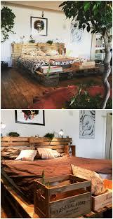 Wooden Pallet Furniture Bed Frames How To Make A Pallet Bed With Lights Diy Pallet Bed