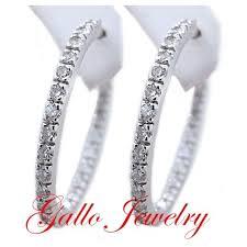 inside out diamond hoop earrings oval shape inside out diamond hoop earrings