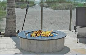Granite Fire Pit by Outdoor Kitchens With A Blue Granite Firepit