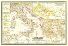 mediterranean map 1949 classical lands of the mediterranean map historical maps