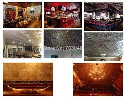 pl50 faux finish embossed 3d ceiling tiles antique cafe club