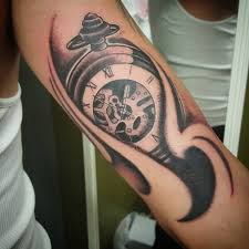 turbo and piston tattoo 100 men bicep tattoo men bicep with amazing owl clock