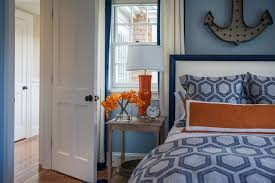 blue and orange decor bedroom killer nautical blue and orange bedroom decoration using