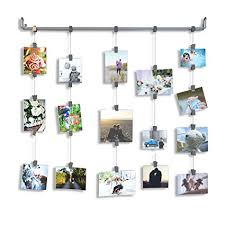 photo hanging clips amazon com hanging photo organizer rail with chains and 32 clips