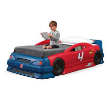 step2 corvette toddler to bed with lights amazon com step2 stock car convertible bed toys