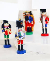 attention mini nutcracker ornament or place card holder for