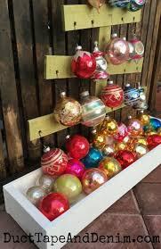 rustic ornament display handmade holidays hop