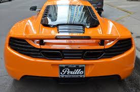 orange mclaren 12c 2012 mclaren mp4 12c stock l387ab for sale near chicago il il