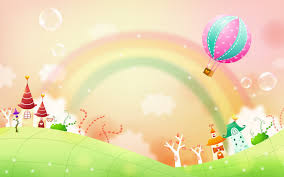 rainbow natural cartoon background wallpaper h 3337 wallpaper