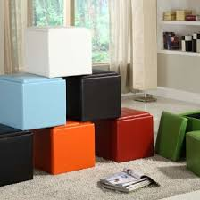 Leather Cube Ottoman Furniture Storage Ottoman Cube Ideas That Will Bring A Statement