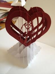 custom card template 3d heart pop up card template free card