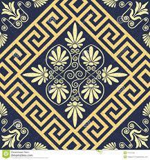 vector seamless vintage gold greek ornament meander stock vector