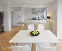 Modern White Dining Room Dining Room Square White Dining Table And Chairs With Kitchen