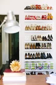 floating shoe shelves can use ikea shelves for cheap jen