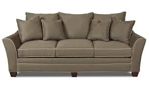 Klaussner Bed Klaussner Posen Contemporary Sofa With Block Feet Wayside
