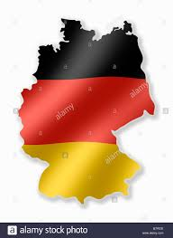 map of deutschland germany germany german deutschland country map outline with national flag
