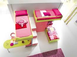 Smart Kids Bedroom Designs For Two Children Yellow And Pink Bunk - Childrens bedroom ideas for girls