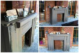 rustic pallet outdoor fireplace faux surround u2022 1001 pallets