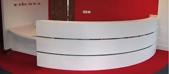 Reception Desk Curved We Are Limitless Limited Curved Reception Desk