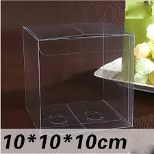 candy apple supplies wholesale wholesale 10 10 10cm clear pvc box 20pcs lot packing wedding