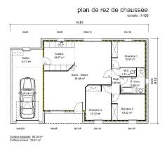 plan maison 3 chambres plain pied plan maison 3 pieces