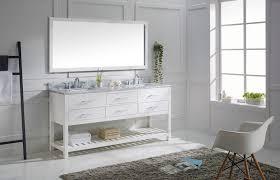 72 Bathroom Vanities Double Sink by Virtu 72 Inch Caroline Estate Bathroom Vanity White