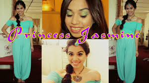 jasmine halloween costume for kids princess jasmine tutorial makeup hair halloween