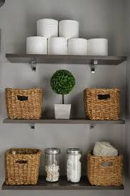 Bathroom Basket Ideas Bathroom Shelves Best Bathroom Shelves Ideas On Half Decor Metal