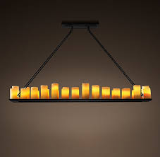 Real Candle Chandelier Candle Rectangular Chandelier 70